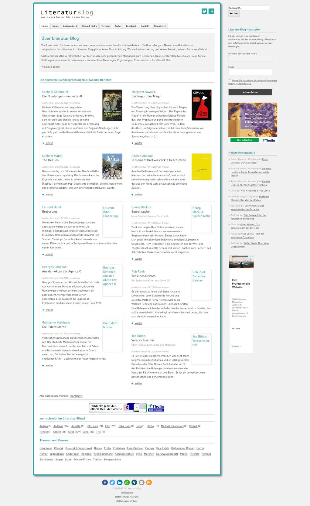 Literatur Blog